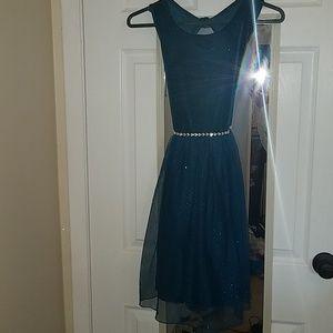 Sparkling teal dress